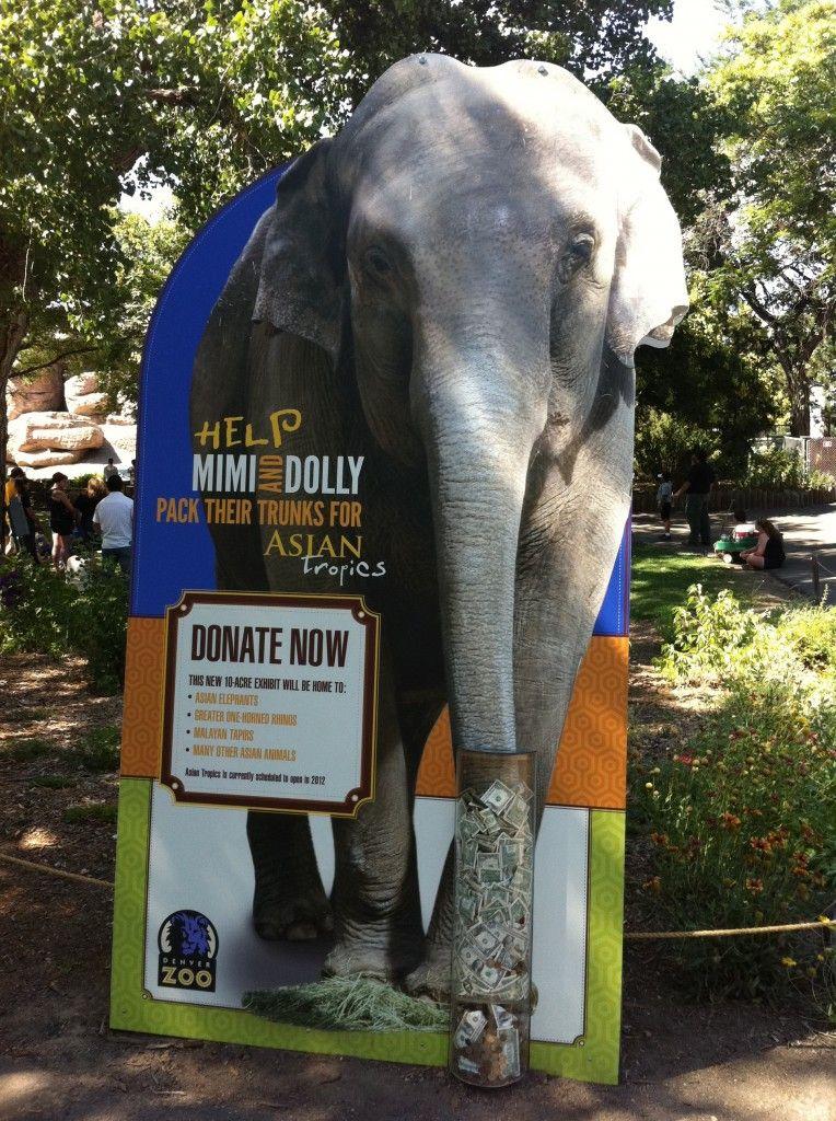 Denver Zoo Custom Dolly Display Asian Tropics