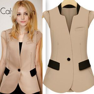 Aliexpress.com : Buy Summer small suit vest women's one button ...
