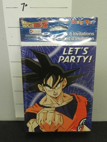 1005 Dragonball Design Wares Dragon Ball Z Birthday Party Invites