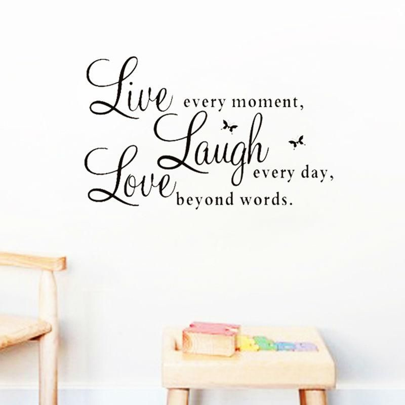 Huhome PVC Wall Stickers Wallpaper English Proverbs success corporate office den