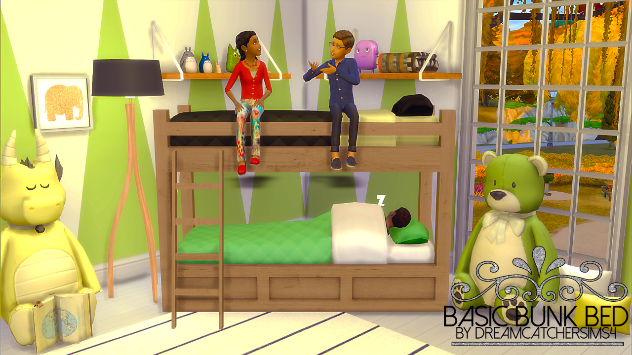 Etagenbett Sims 4 : The sims 4 dreamcatchersims4 basic bunk bed frame buy mode kids