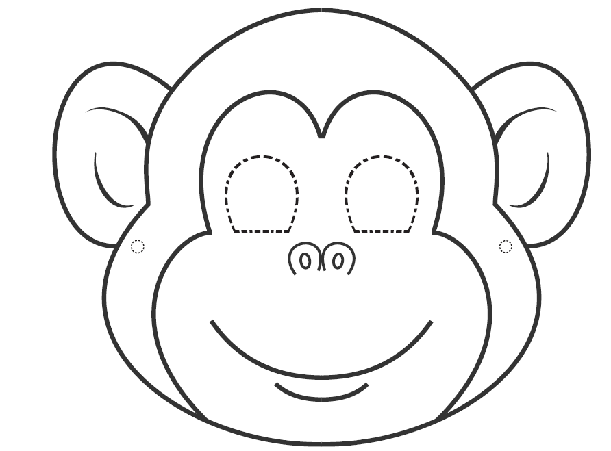 graphic about Monkey Mask Printable named I need to have toward discover English: Colouring masks for Carnival year