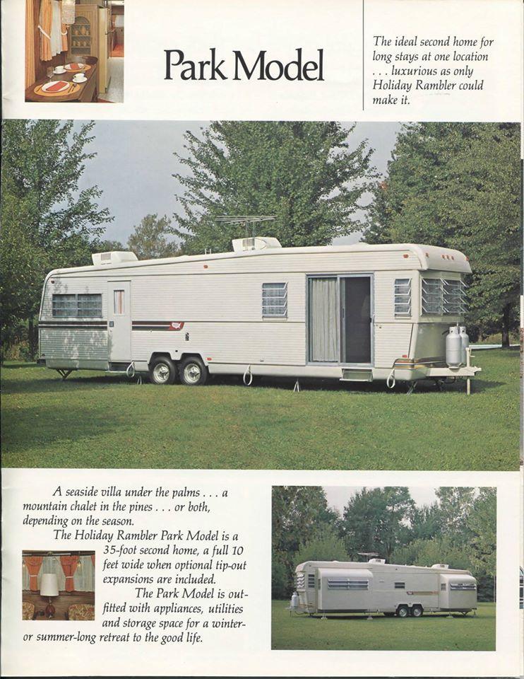77 Holiday Rambler Park Model Vintage RvVintage TrailersTiny LivingCampers Tent