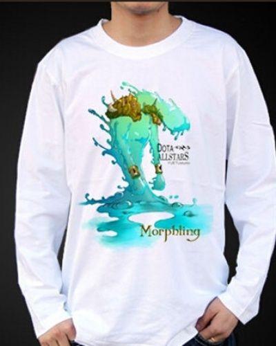 Dota 2 herói Morphling camiseta de manga longa para homens-