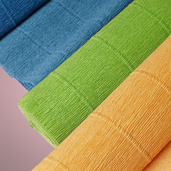 Our Premium Heavy Colored Crepe Paper is perfect for all your crafting needs! Start your crepe paper DIY today! [ PaperMart.com ]