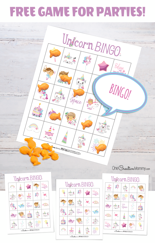 Free Unicorn Bingo Game Onecreativemommy Com Bingo Card Template Free Bingo Cards Bingo