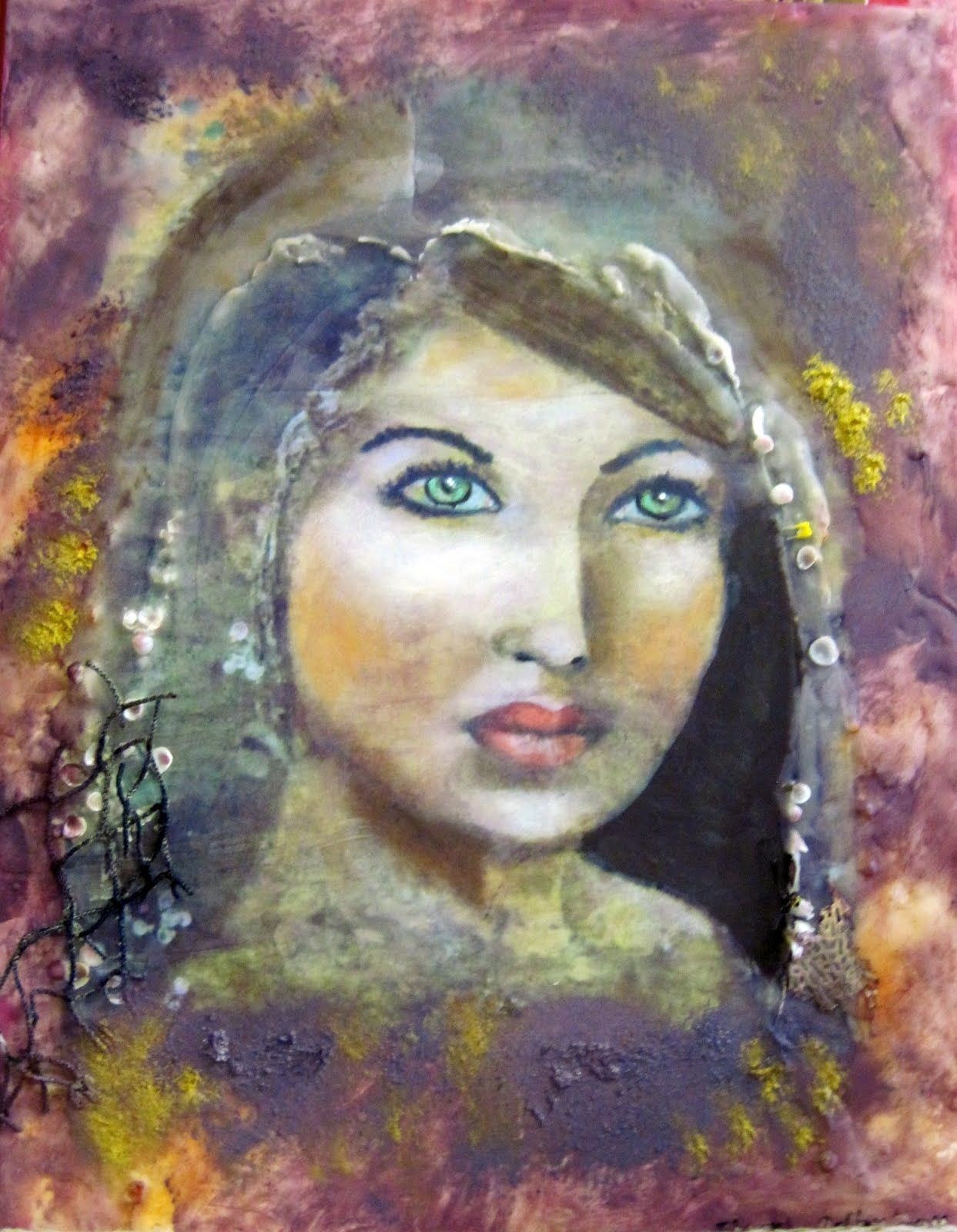 The Great Mother Mixed Media Portrait Goddess Painting