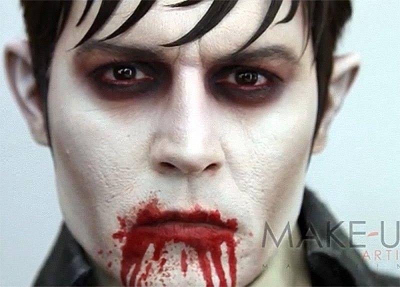 Barnabas Collins Halloween Pinterest - maquillaje de vampiro hombre
