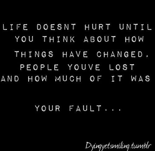 Sad Hurtful Quotes: Sad Depressing Quotes About Life