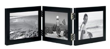 Amazon.com: Burnes of Boston C58264 2 Hinged Picture Frame, 6-Inch by 4-Inch, Onyx: Home & Kitchen