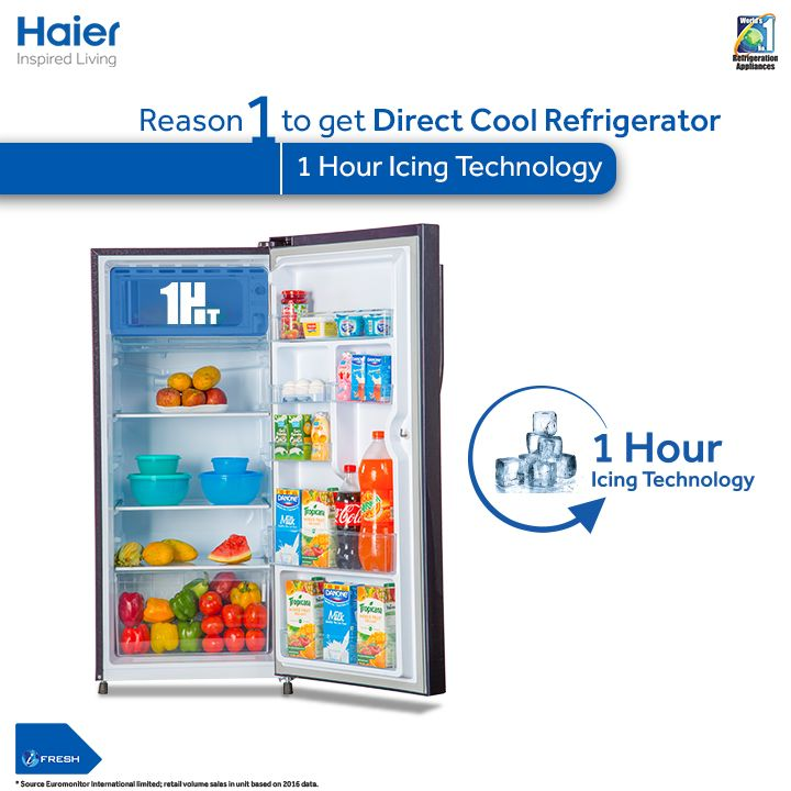 Must-know 3 reasons for getting Haier's Frost-Free Refrigerator:  #1 – 1 Hour Icing Technology… #Haier #SmartRefrigerators #InspiredLiving  To know more: https://www.youtube.com/watch?v=xUppoPipL_M