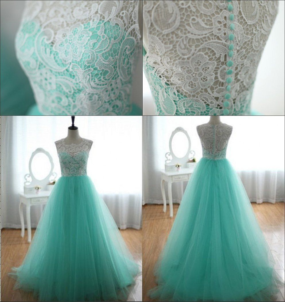 Women LACE Vintage Long Formal Evening Party Bridesmaid Prom Dress ...