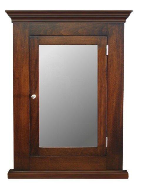 Dark Walnut Recessed Medicine Cabinet & Mirror / by AJCabinets ...