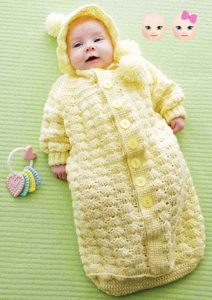 Instant PDF Digital Download Vintage Crochet Pattern Baby Sleeping ...