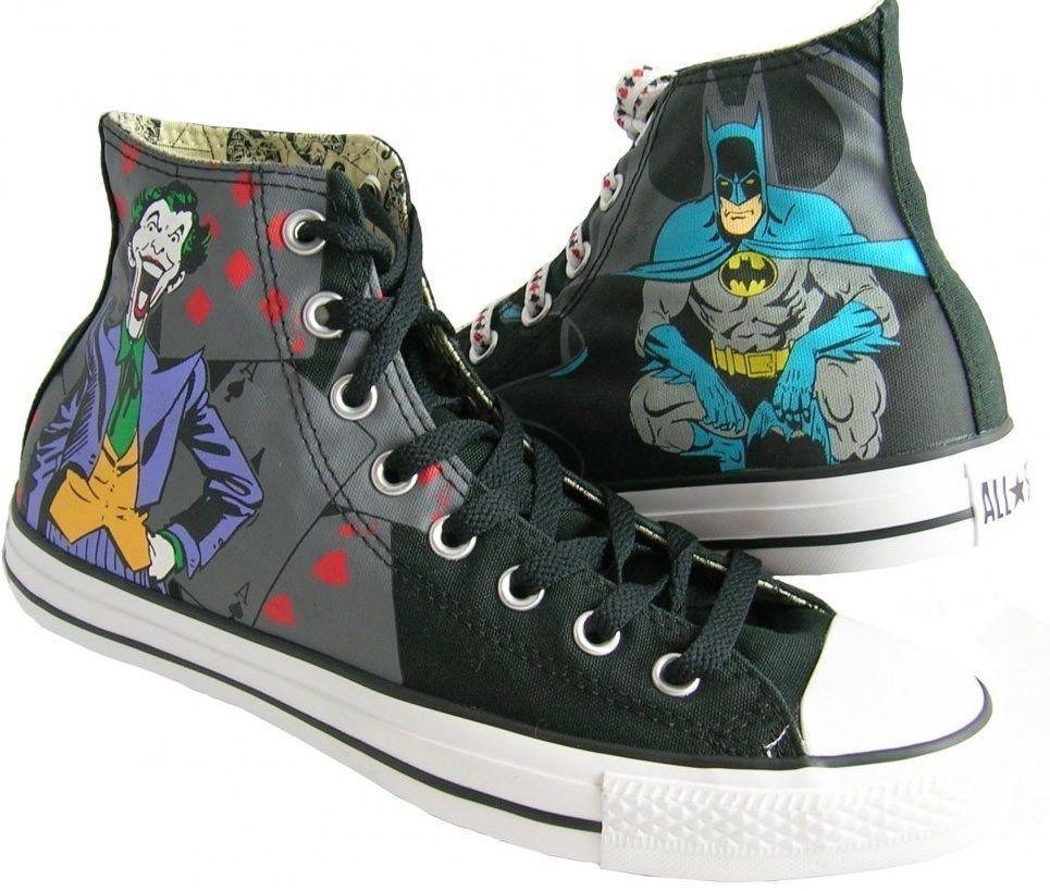 8d2473e11c13 NEW CONVERSE ALL STAR CHUCK TAYLOR DC COMICS BATMAN JOKER HI TOP SIZE 11