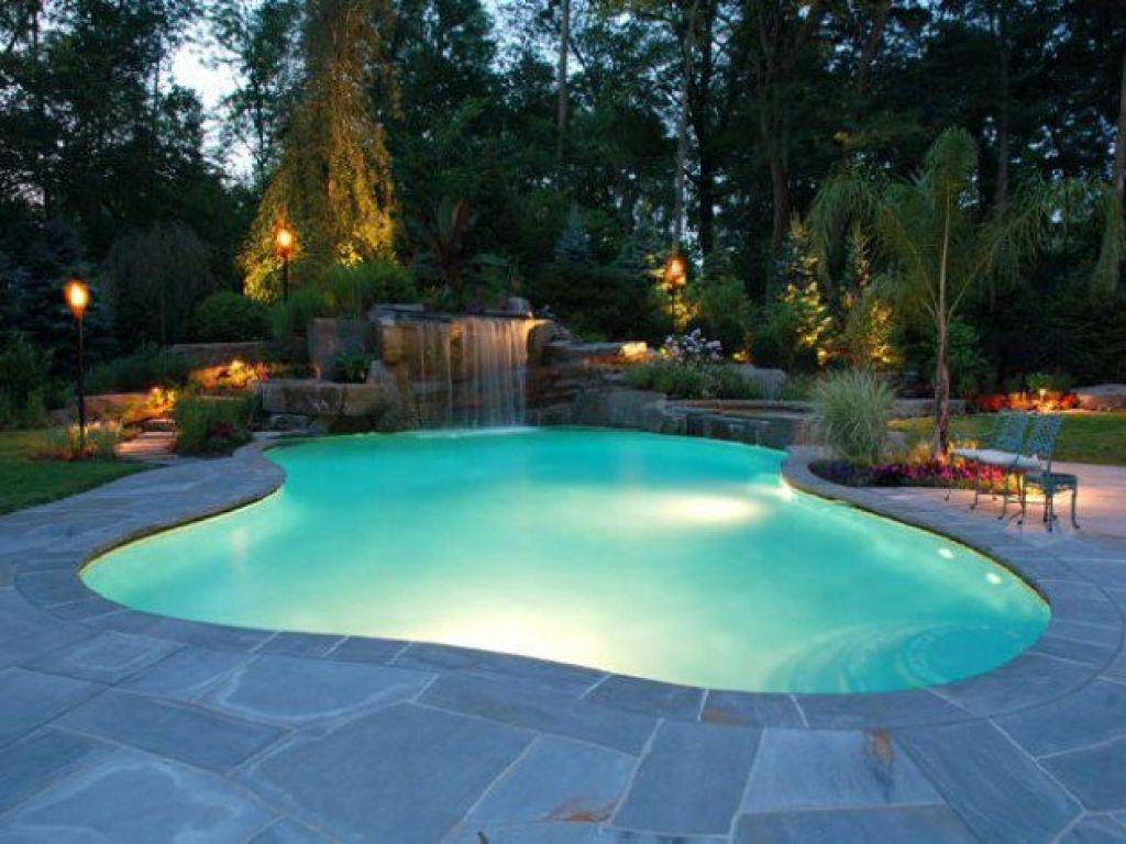 Swimmingpool Beleuchtung Design Schwimmbad Swimming Pool Lights Swimming Pool Landscaping Swimming Pool Waterfall