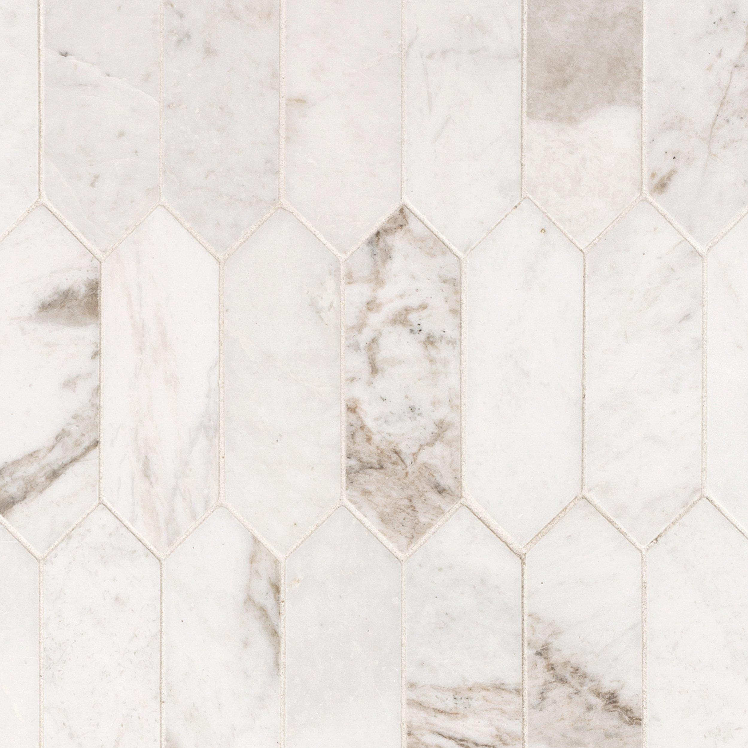 Bianco Orion Picket Marble Mosaic In 2020 Marble Mosaic Floor Decor Kitchen Marble