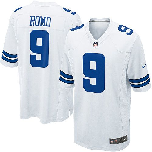 5629de7562fe9 Cheap Tony Romo Youth Jersey #9 Game White NFL Nike Dallas Cowboys Jersey  free shipping
