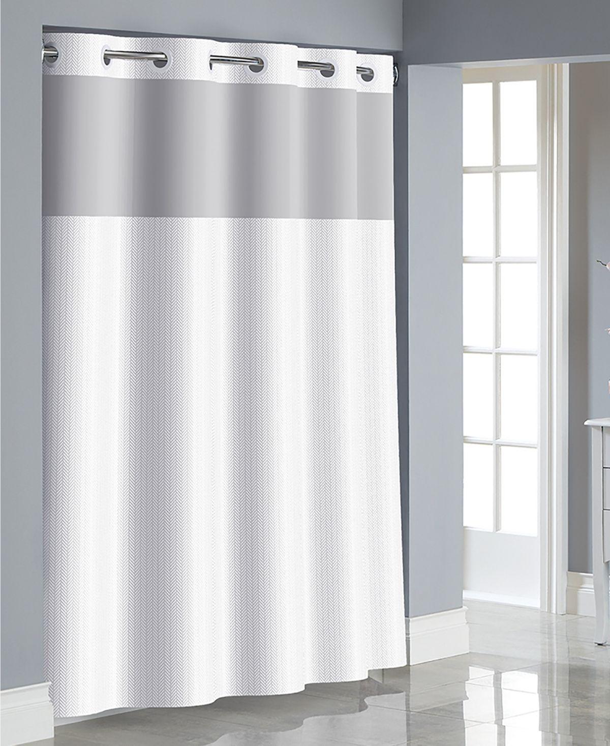 Hookless Herringbone 3 In 1 Shower Curtain Reviews Shower