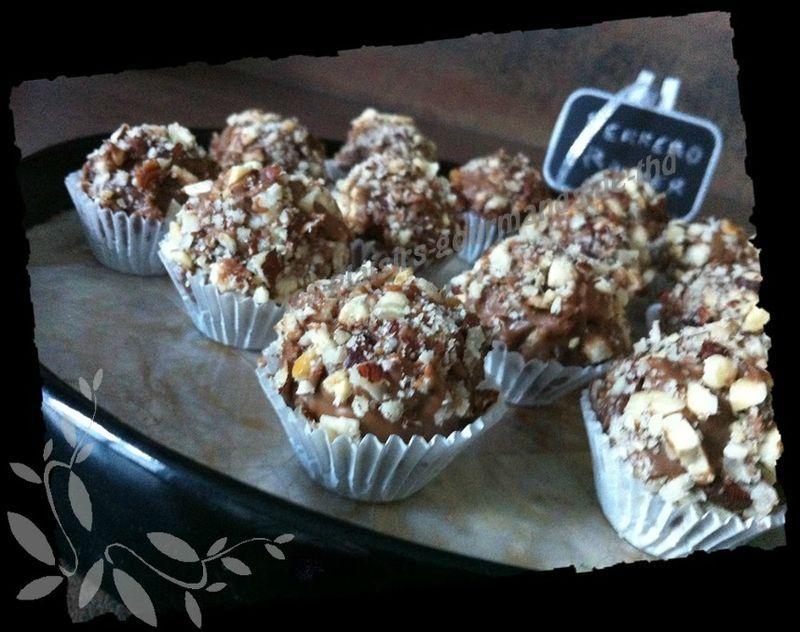 Petites Bouchées façon Ferrero Rocher - Les-plaisirs-gourmands-de-thd #patefeuilleteerapide La pâte feuilletée rapide - Les-plaisirs-gourmands-de-thd #patefeuilleteerapide
