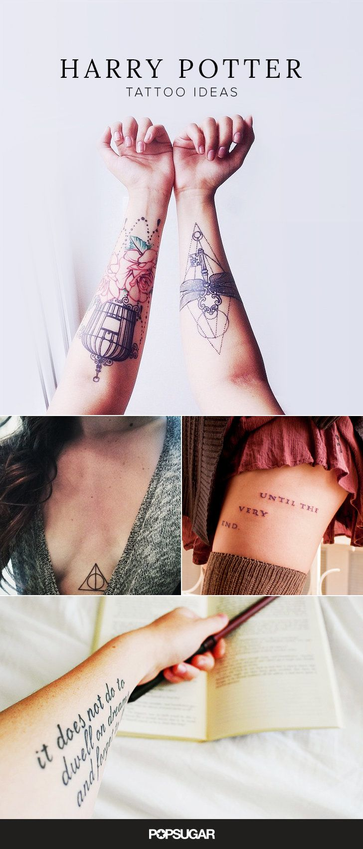 Cool tattoo designs for your hand harry potter tattoos that would make jk rowling proud  tats