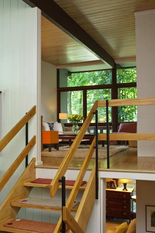 Inspiration From Mid Century Modern Kitchens Mid Century | Mid Century Modern Stair Railing