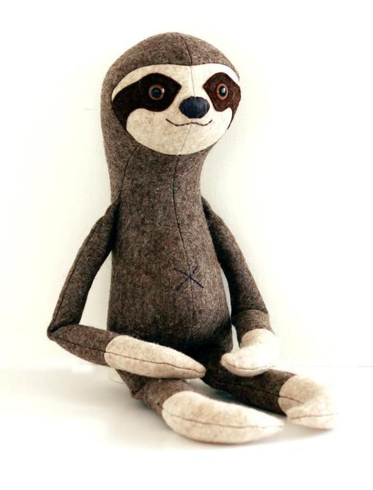 Sloth plush sewing pattern sew your own | muñecas de tela ...