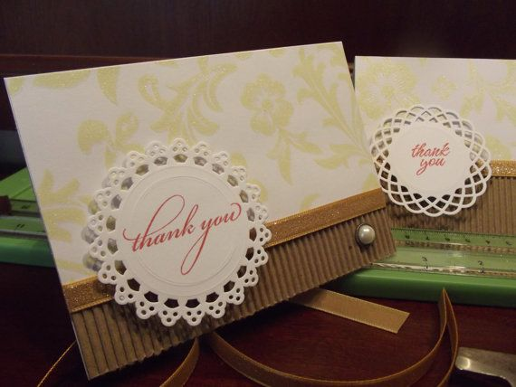 Hand Crafted Thank You Notes on Etsy, $15.00