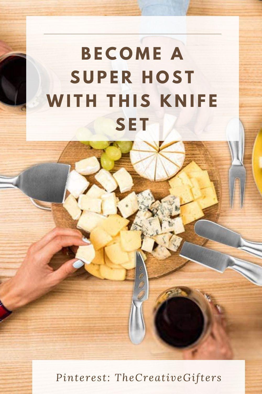 Kitchen Gift Set, Cheese Board Knife Set Housewarming