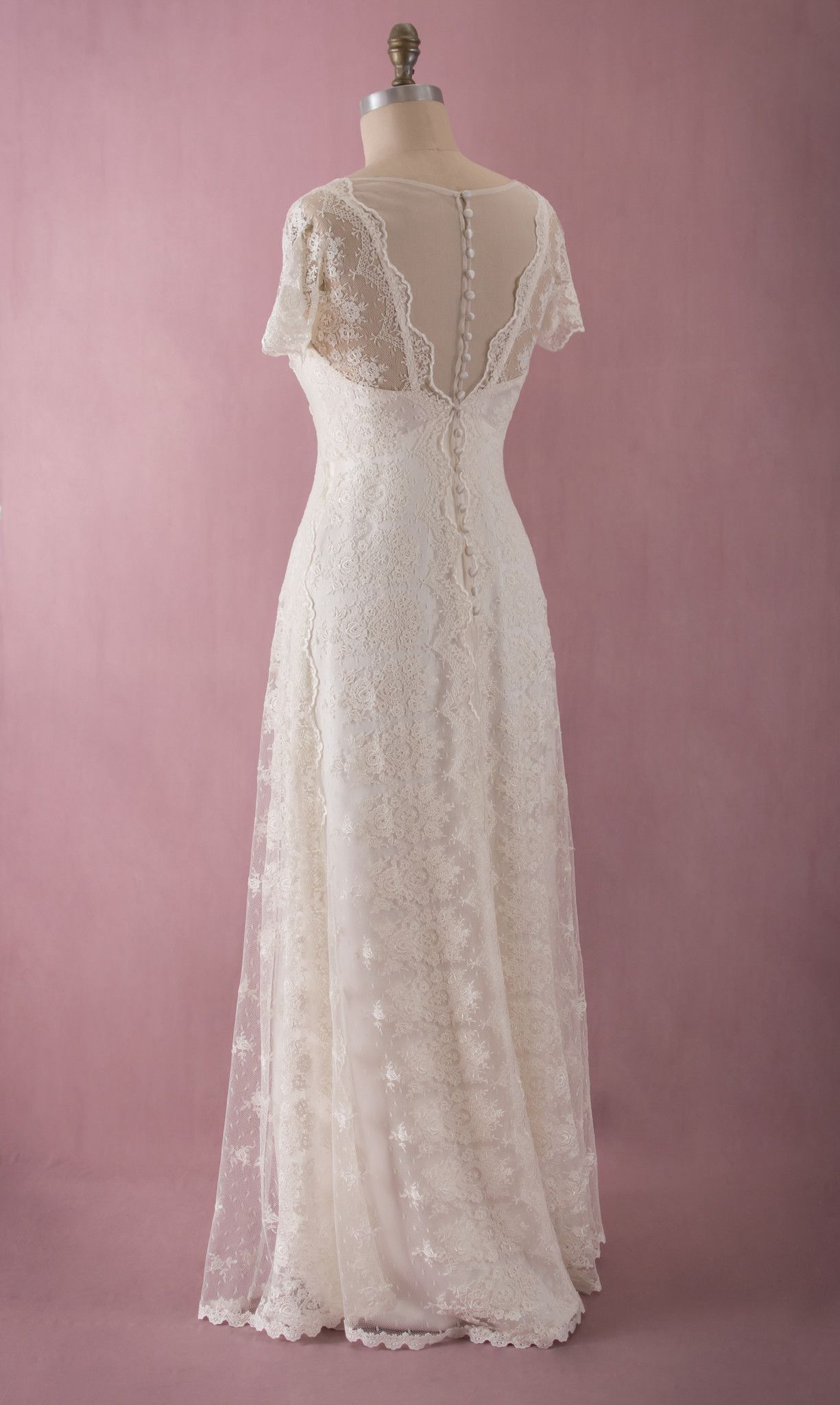 Mia by martin mccrea venise pattern embroidered tulle for Places to donate wedding dresses