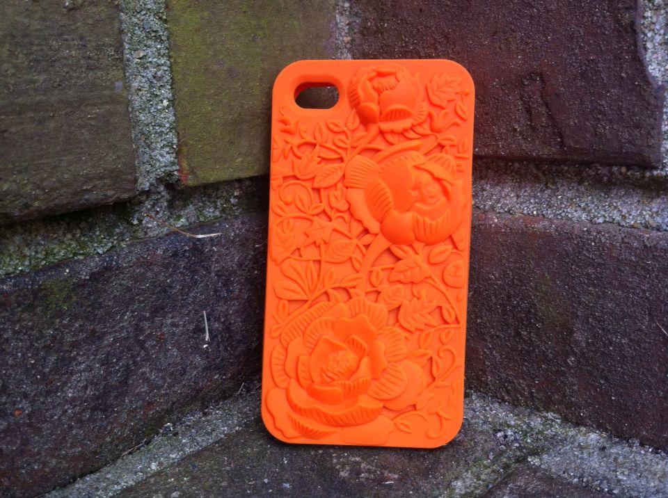 Beautiful orange 3d flower phone case