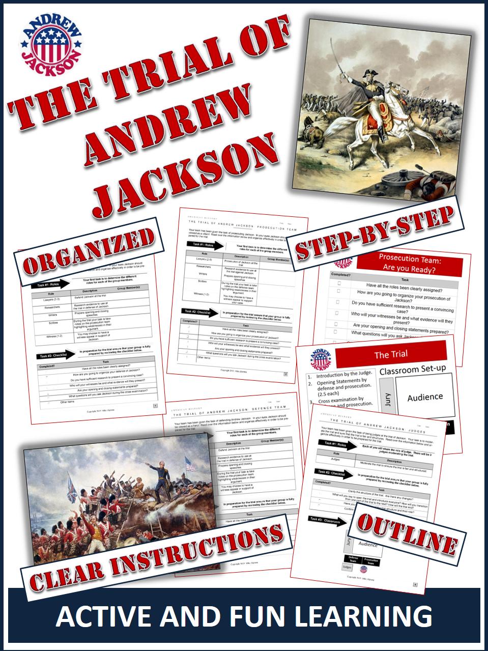 Andrew Jackson Hero or Villain Students Put Andrew Jackson on – Andrew Jackson Worksheet
