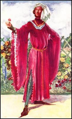The Houppelande or Peliçon -  COSTUME HISTORY RICHARD II - 1377-1399