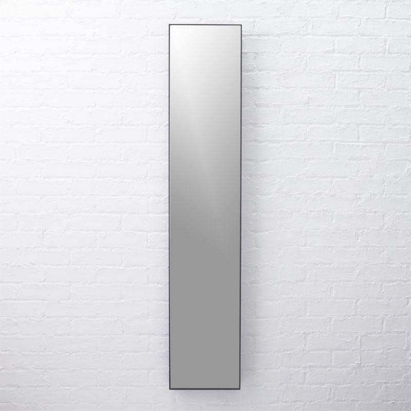 CB2 Infinity Narrow Black Mirror 10.5 x54 | Handmade frames, Mirror ...