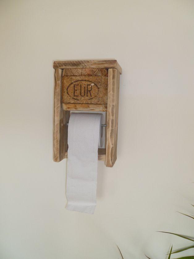 klopapierhalter nr 1 aus euro paletten klopapierhalter euro und shabby. Black Bedroom Furniture Sets. Home Design Ideas