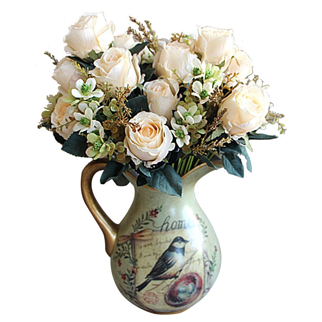 Click to buy beautiful charming delightful palace earl rose multi cheap wedding home decoration buy quality artificial flowers wedding directly from china flower wedding suppliers beautiful charming delightful palace izmirmasajfo Image collections