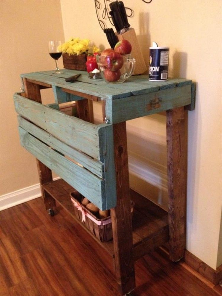Pallet projects for kitchen pallet kitchen island for Make a kitchen island out of pallets