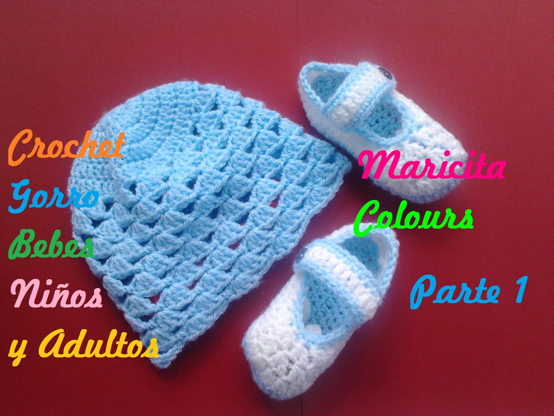 Crochet Tutorial Gorro Bebe Celeste (Parte 1) Subtitles English ...