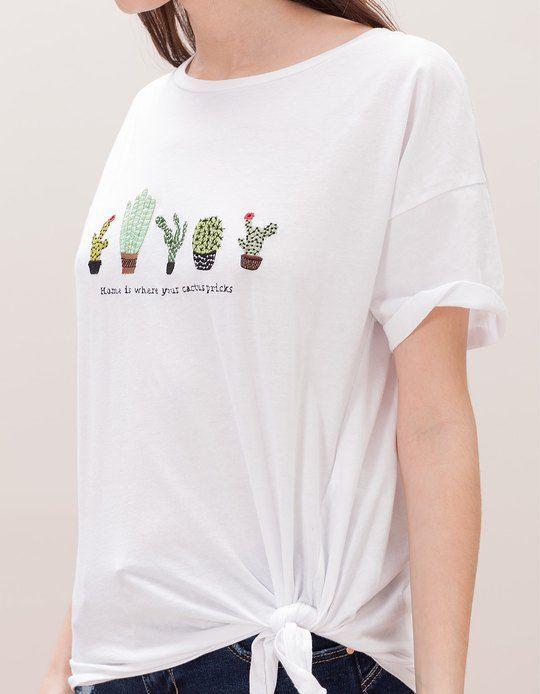 Chez Stradivarius, tu trouveras 1 T-shirt nœud cactus pour seulement null  France . Entre et découvre bien d'autres null.