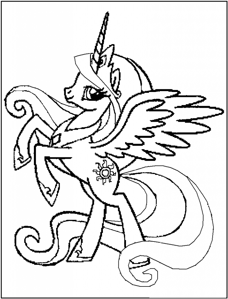 Free Printable My Little Pony Coloring Pages For Kids | Cartoon ...