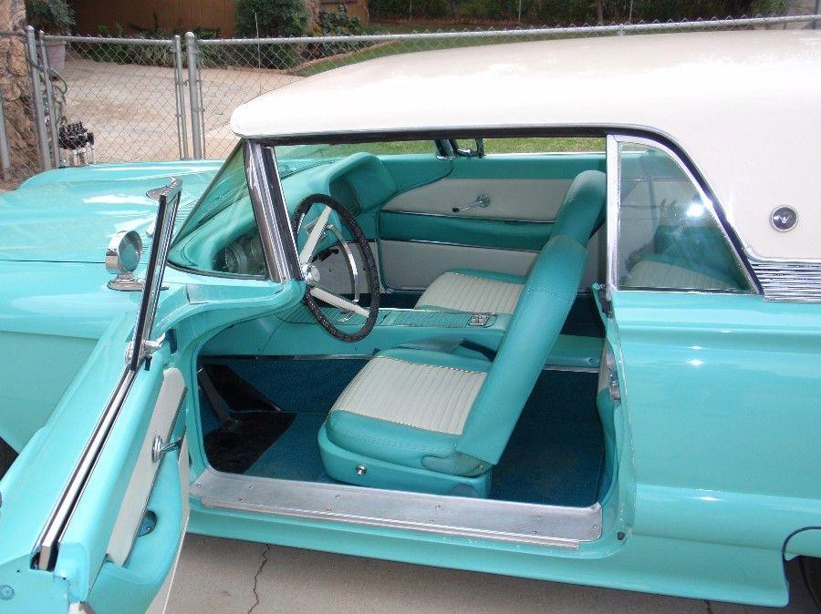 Turquoise White 1958 Ford Thunderbird