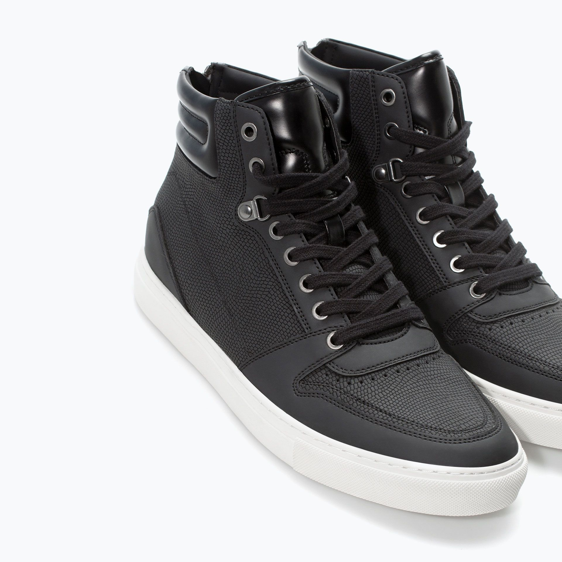 Zara   Sneaker texture Lézard   Sneakers Homme   Chaussures