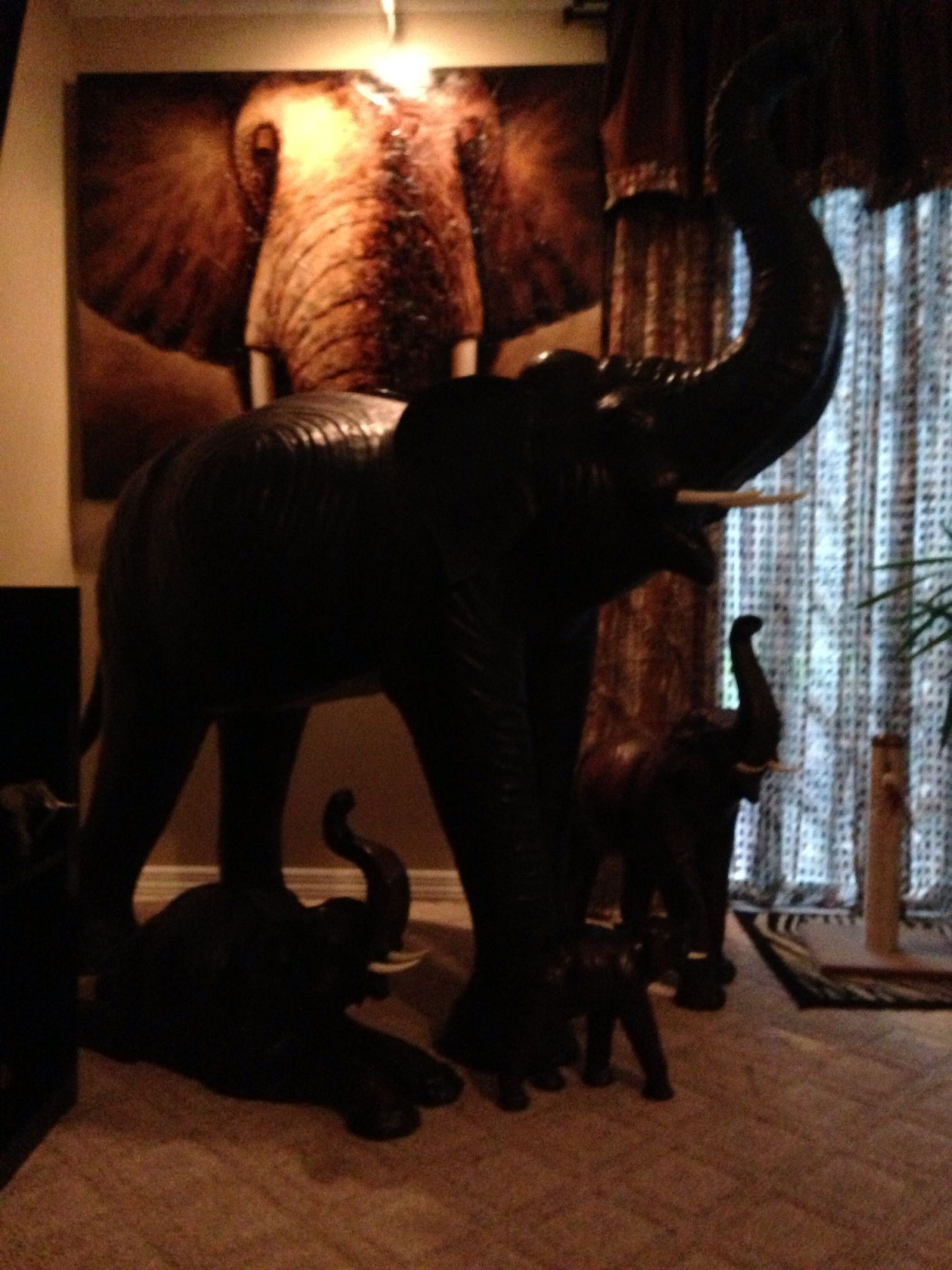 Elephant Section Of African Themed Front Room Big Elephant Is 5
