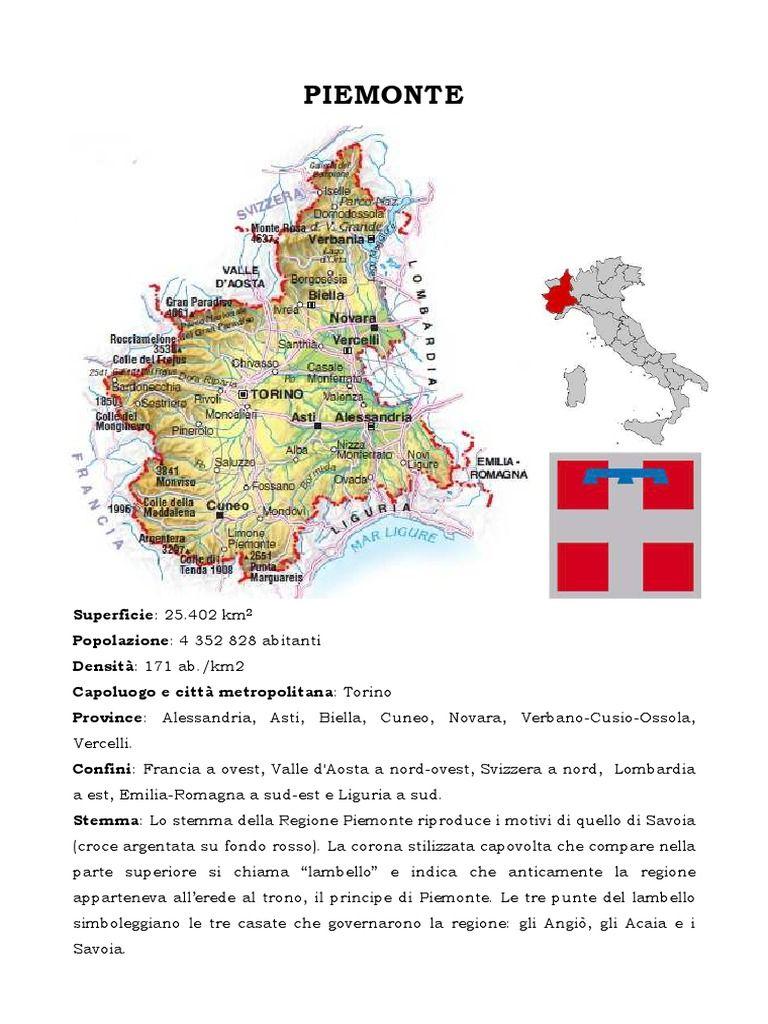 Regione Piemonte Cartina Fisica.Piemonte Il Piemonte Studiare Le Regioni D Italia Classe V Primaria Interest None School Tool Map Aosta