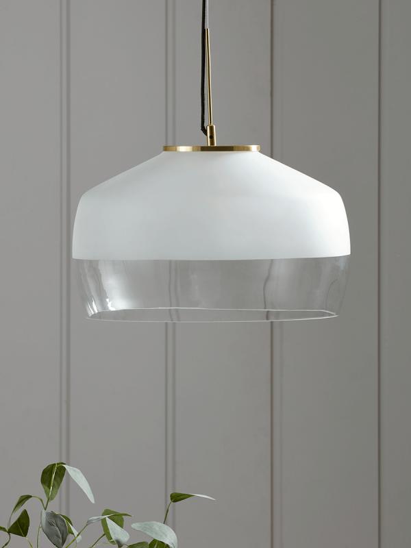 New Oversized Frosted Glass Brass Pendant Pendant Lighting