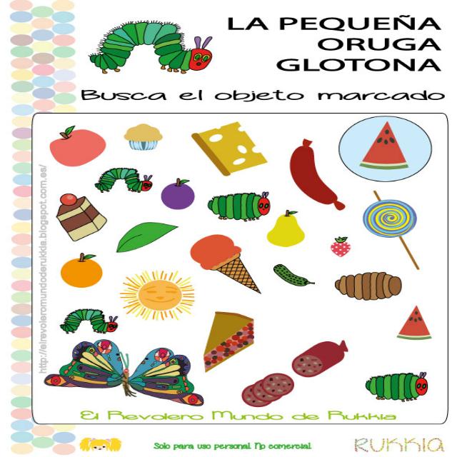 Juego oruga glotona, very hungry caterpillar game, books activities ...