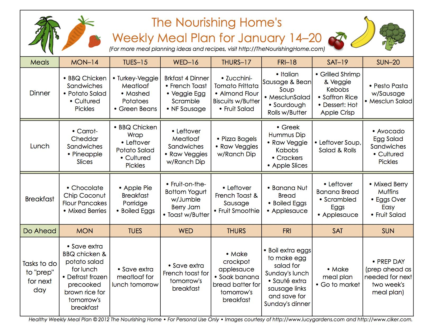 Bi Weekly Meal Plan For January 7 20 Whole Foods Meal Plan