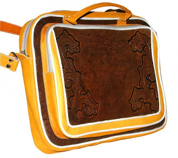 Classic Bags Design with Unique Hand Tooled Leather by New World Trading Fernando Laptop