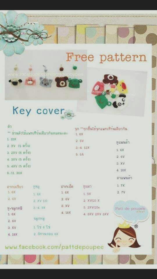Pin de Red Sky en Crochet Keychain / Key cover | Pinterest ...