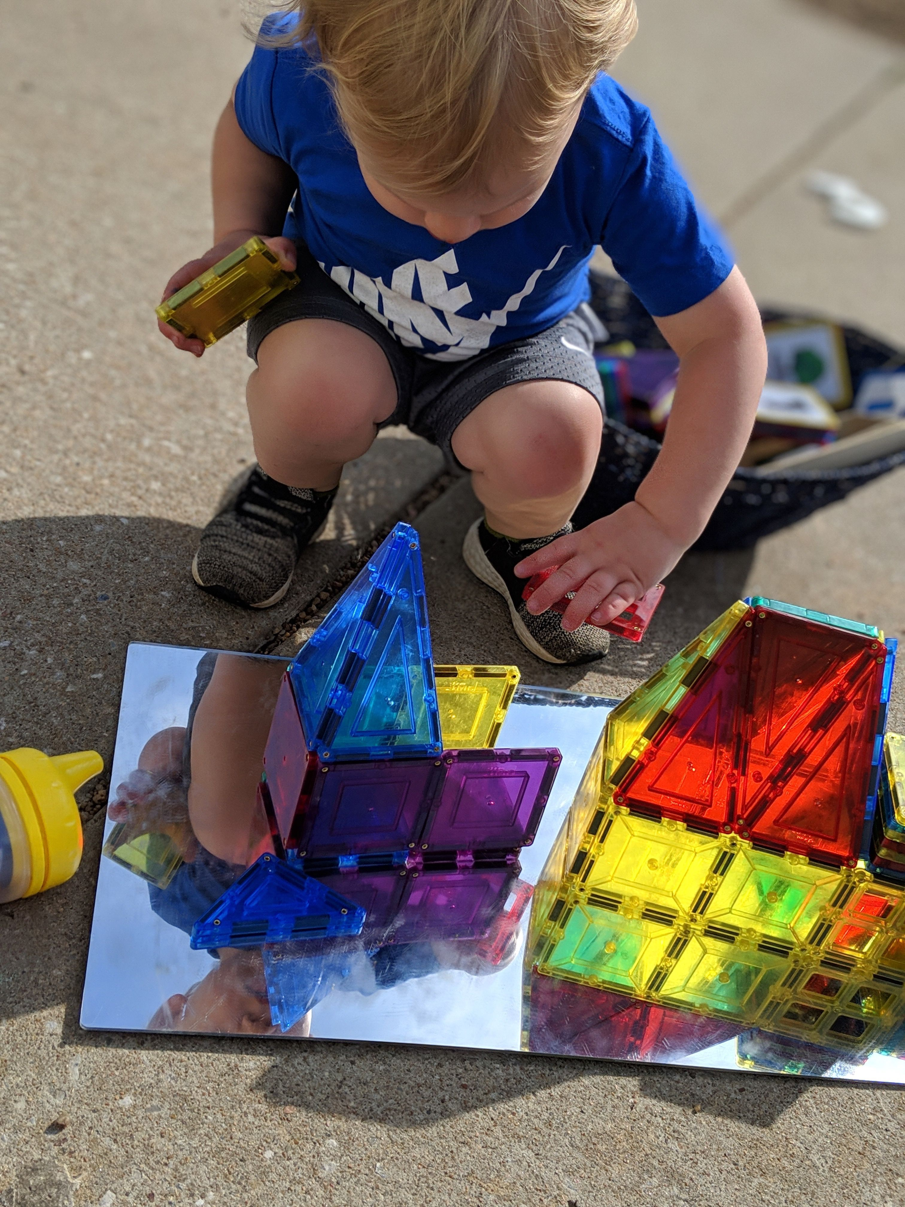Magna Tiles On Mirrors Makes For Endless Exploring Construction